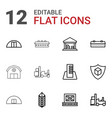 warehouse icons vector image vector image