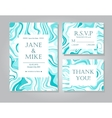 wedding invitation card suite with blue vector image