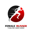 womens runner logo vector image vector image