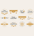 year and winter typography badges vector image