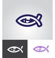 christian fish as eye symbol vector image