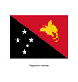papua new guinea flag - icon vector image