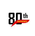 80th anniversary abstract logo eighty vector image