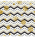 a gold snowflake pattern zigzag christmas chevron vector image vector image