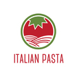 Abstract icon tomato with pasta vector image