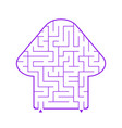 abstract simple isolated labyrinth in the shape vector image