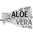 aloe vera products text word cloud concept vector image vector image