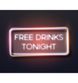 Bar Advertising Retro Glowing Neon Frame Template vector image
