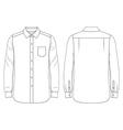 Blank mens shirt vector image vector image