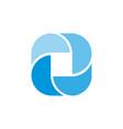 blue spin letter o design concept vector image vector image