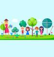 Botanical garden excursion for little children