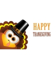 Card for Thanksgiving Day Turkey in a pilgrim hat vector image vector image