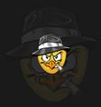 chicken mafia on dark background vector image