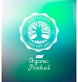 Circle tree logo design template vector image vector image