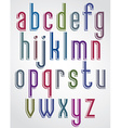 Colorful animated font comic slim lower case vector image vector image