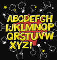 comic alphabet and speech bubble elementexplode vector image vector image