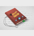 concept of audio book with headphones vector image
