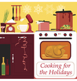 Cooking for the holidays vector image vector image