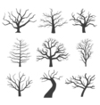 Dead tree silhouettes Dying black scary trees vector image vector image