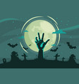 decorative halloween background flat style vector image vector image