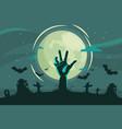 decorative halloween background flat style vector image vector image