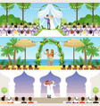 different wedding ceremonies set traditional vector image vector image