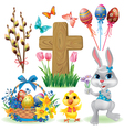 Easter symbols set vector image vector image