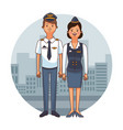 flight crew cartoon vector image