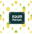 food pattern pineapple background image vector image