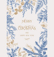 forest christmas frame vector image vector image