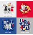 France Flat Set vector image