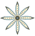 Geometric circle element vector image vector image