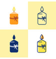 gift candle icon set in flat and line style vector image vector image