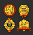 Gold Guaranteed Labels vector image
