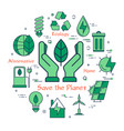 green save the planet concept vector image vector image