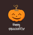 halloween pumpkin on dark vector image vector image