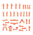 hand gestures collection for expression of vector image