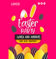 happy easter day festival poster design vector image vector image