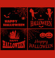 happy halloween collection on vector image vector image