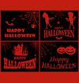 happy halloween collection vector image vector image