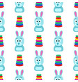 hare with funny face and pyramid seamless pattern vector image vector image
