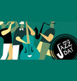 international jazz day retro poster of live music vector image vector image