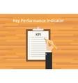 kpi key performance indicator checklist vector image vector image