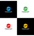 letter n in circle logo icon flat design vector image vector image