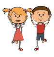 little children avatars characters vector image vector image