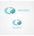 logo dove peace vector image