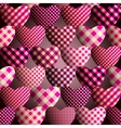 Magenta hearts pattern vector image