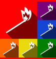 match sign set of icons with vector image
