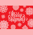 merry christmas handwritten elegant modern brush vector image