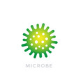 microbe bacterium icon logo vector image